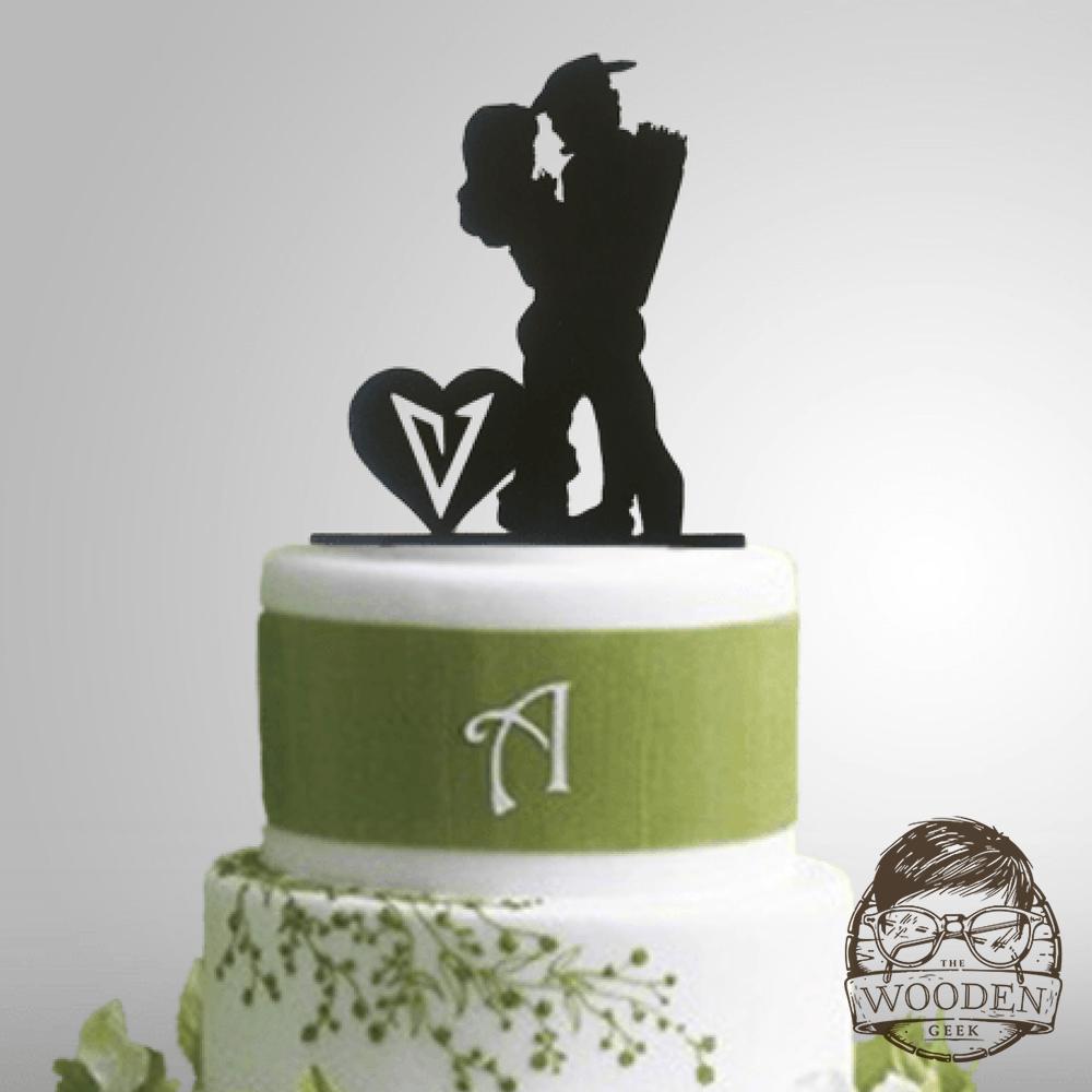 Arrow Wedding Cake Topper The Wooden Geek