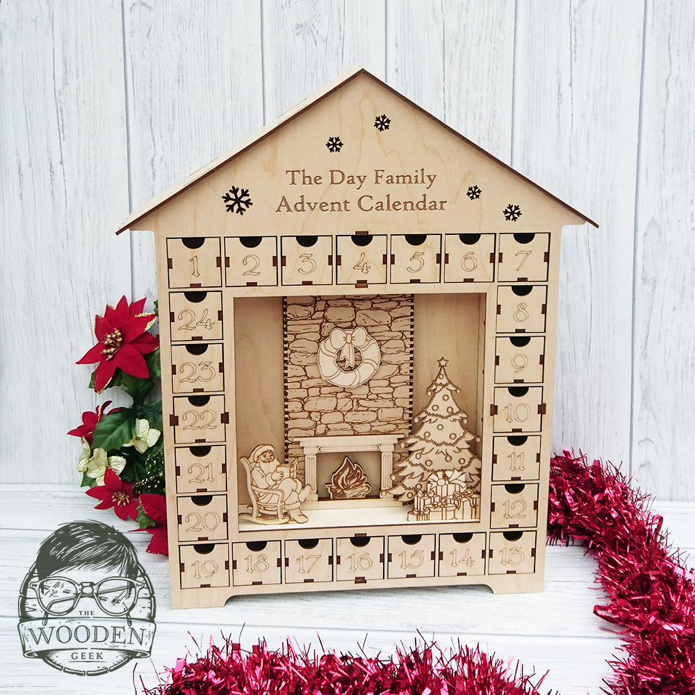 Wooden Advent Calender House 2017 – The Wooden Geek
